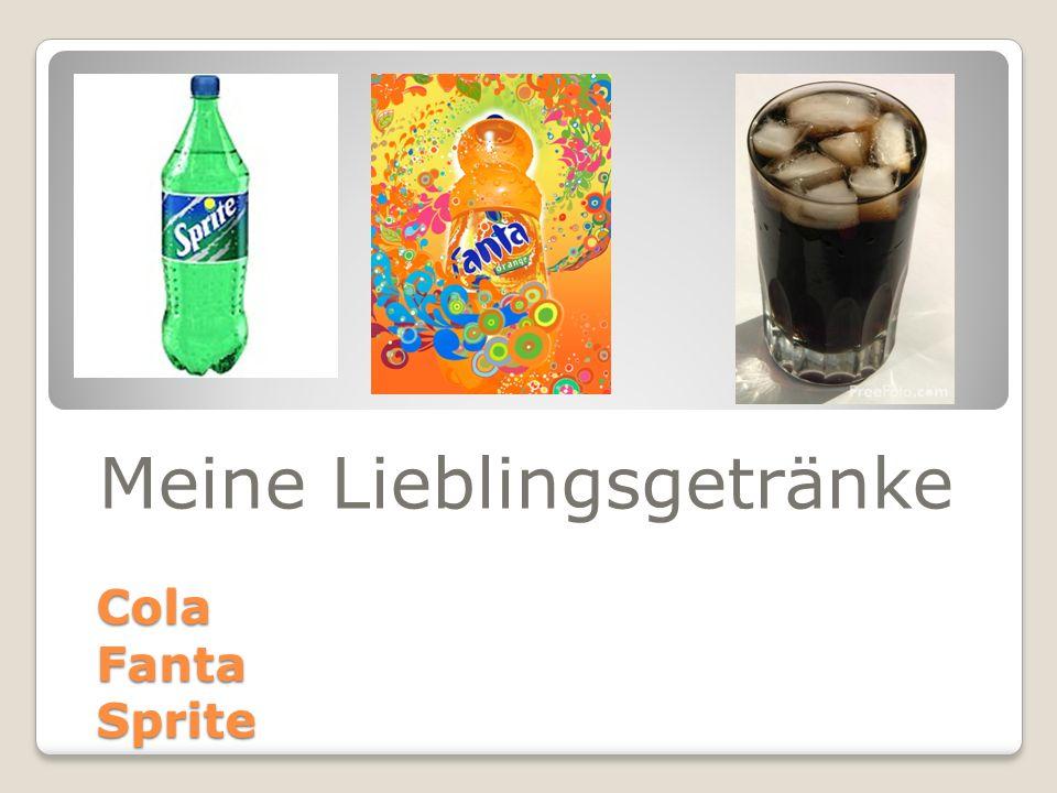 Cola Fanta Sprite Meine Lieblingsgetränke