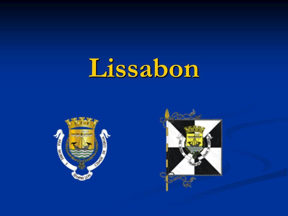 Wichtigste Daten Lissabon ist die Hauptstadt von Portugal Lissabon ist die Hauptstadt von Portugal Fläche: 84,7 km² Fläche: 84,7 km² Einwohner: 499.700 Einwohner: 499.700 Bevölkerungsdichte: 5900 Einwohner pro km² Bevölkerungsdichte: 5900 Einwohner pro km² Gemeinden: 53 Gemeinden: 53