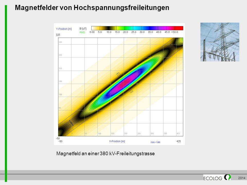 2014 Magnetfelder von Hochspannungsfreileitungen Magnetfeld an einer 380 kV-Freileitungstrasse