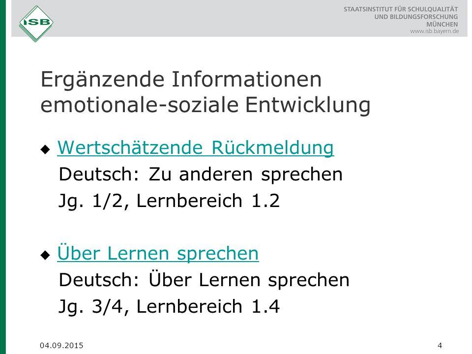 Inklusion - Ausgewählte Materialien des ISB spezifische Förderaspekte  Autismus-Spektrum- Störung  Epilepsie 15 04.09.2015