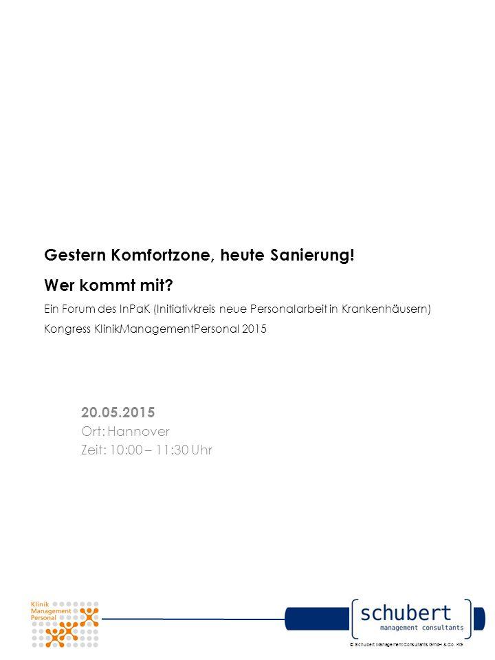 © Schubert Management Consultants GmbH & Co. KG Gestern Komfortzone, heute Sanierung.