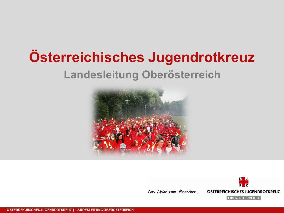 Österreichisches Jugendrotkreuz Landesleitung Oberösterreich ÖSTERREICHISCHES JUGENDROTKREUZ | LANDESLEITUNG OBERÖSTERREICH