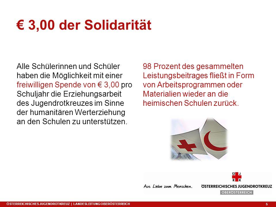 5 € 3,00 der Solidarität Alle Schülerinnen und Schüler haben die Möglichkeit mit einer freiwilligen Spende von € 3,00 pro Schuljahr die Erziehungsarbe