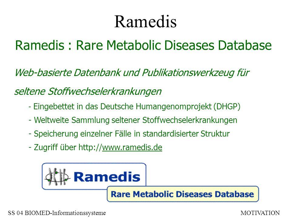 Web-basierte Datenbank und Publikationswerkzeug für seltene Stoffwechselerkrankungen - Eingebettet in das Deutsche Humangenomprojekt (DHGP) - Weltweit
