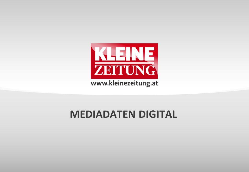 © Verkaufsentwicklung / Anzeigen und Marketing Kleine Zeitung WEBSITE KLEINEZEITUNG.AT Mediadaten ÖWA BASIC 1 Unique Clients*2.260.489 Visits**9.648.336 Page Impressions***57.965.338 ÖWA PLUS 2 UNIQUE USERREICHWEITE Österreich891.00014,5 % Steiermark382.00043,9 % Kärnten126.00032,1 % ***Eine PI wird dann gezählt, wenn eine Seite eines Online-Angebotes aufgerufen wird.