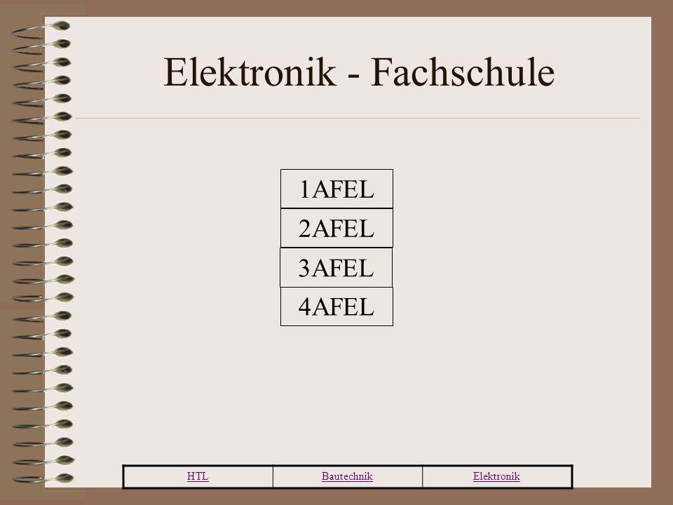 HTLBautechnikElektronik Elektronik - Fachschule 1AFEL 2AFEL 3AFEL 4AFEL