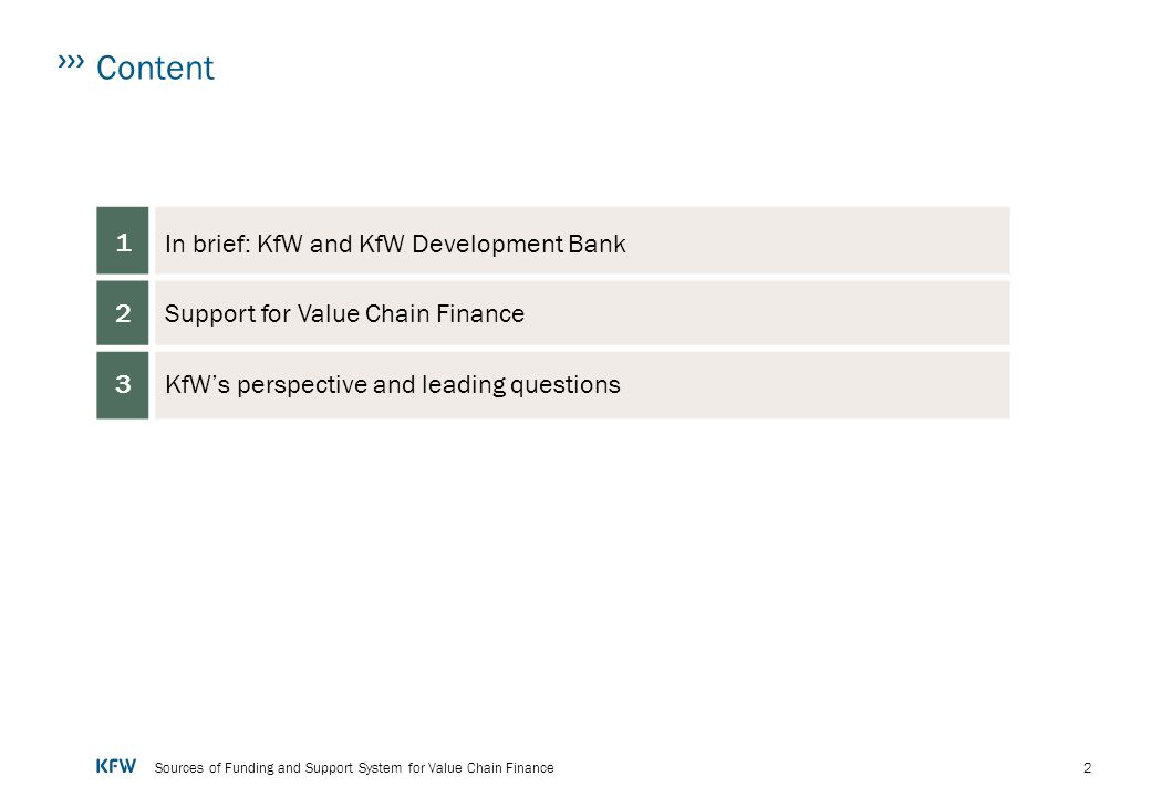 In brief: KfW and KfW Development Bank
