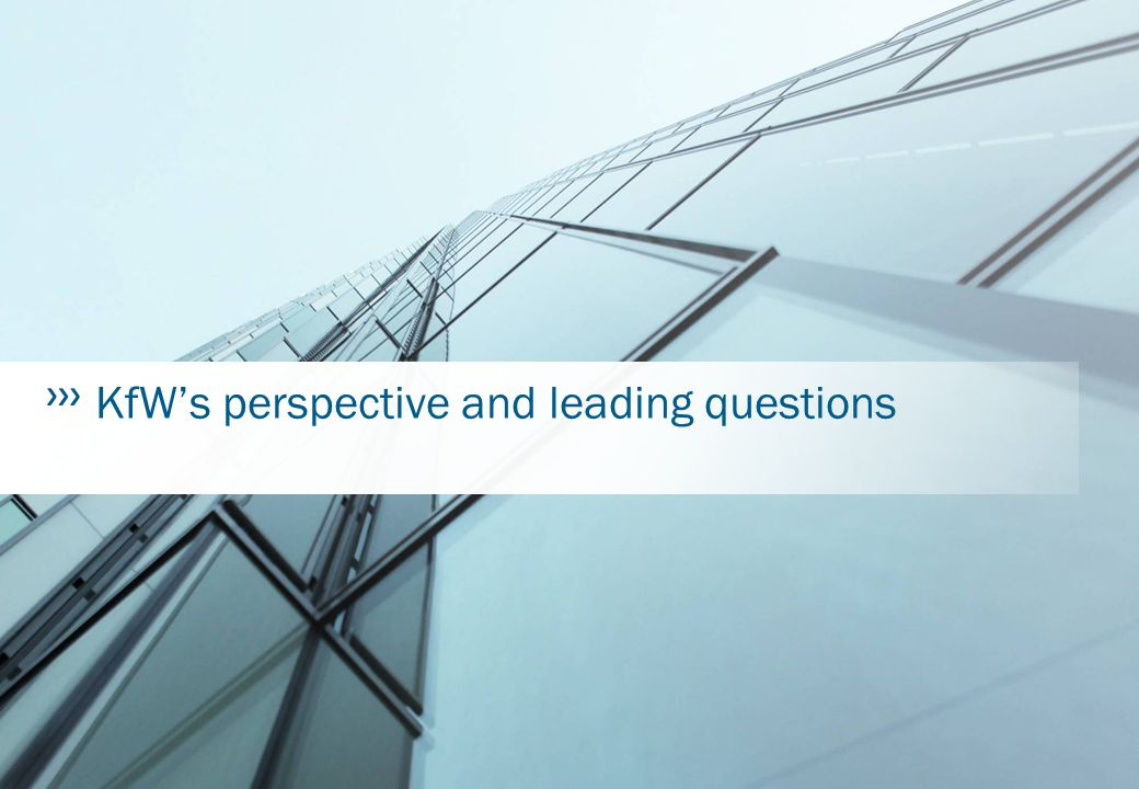 Bank aus Verantwortung KfW's perspective and leading questions
