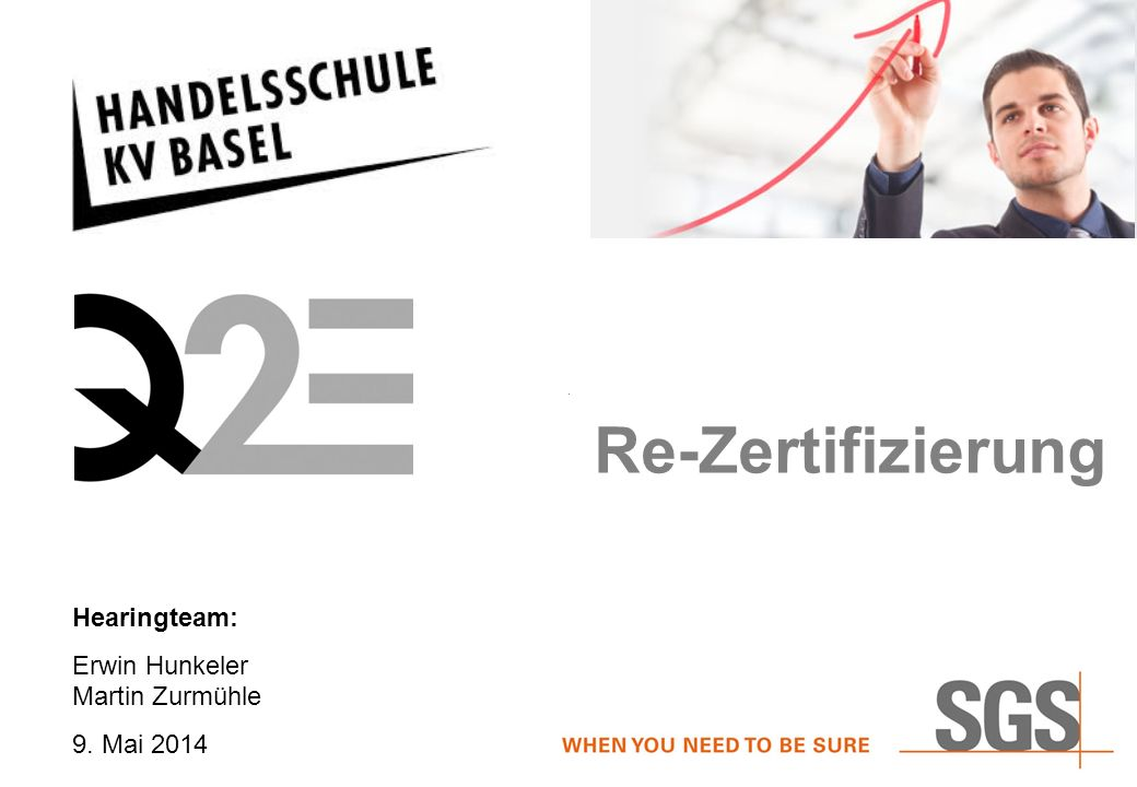 Hearingteam: Erwin Hunkeler Martin Zurmühle 9. Mai 2014 Re-Zertifizierung