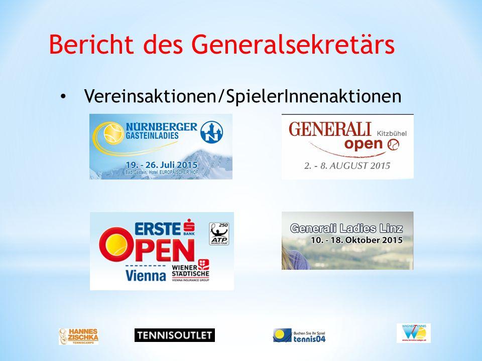 Bericht des Generalsekretärs Vereinsaktionen/SpielerInnenaktionen