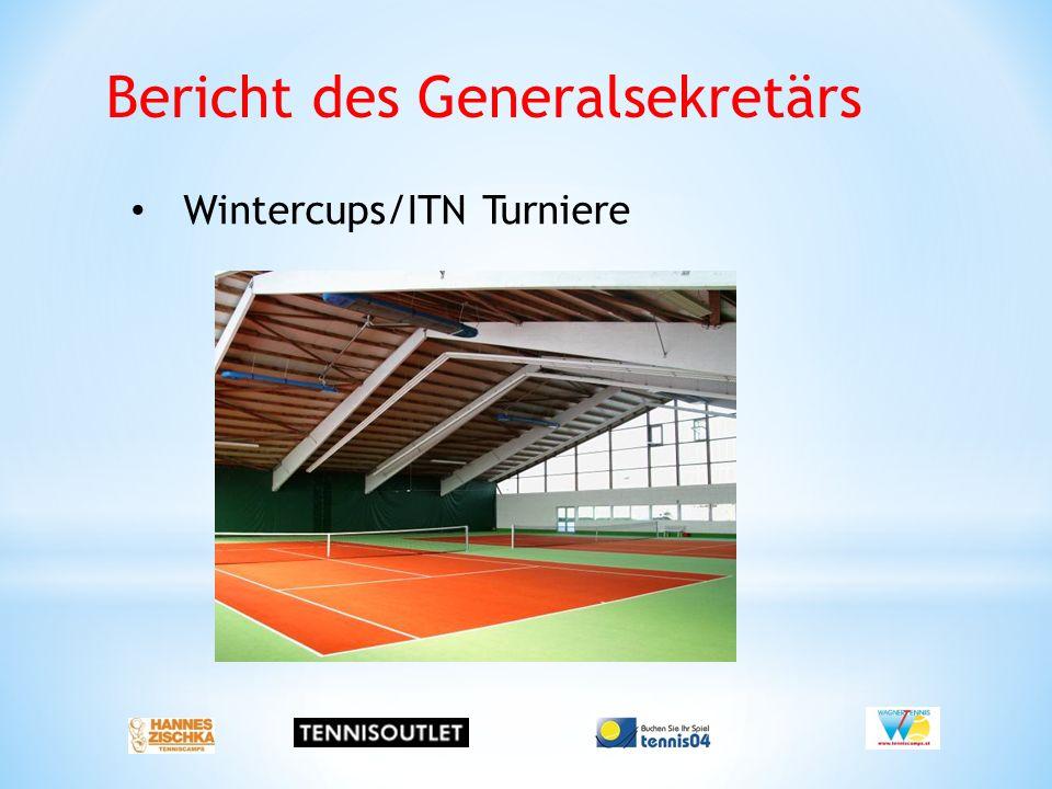 Bericht des Generalsekretärs Wintercups/ITN Turniere