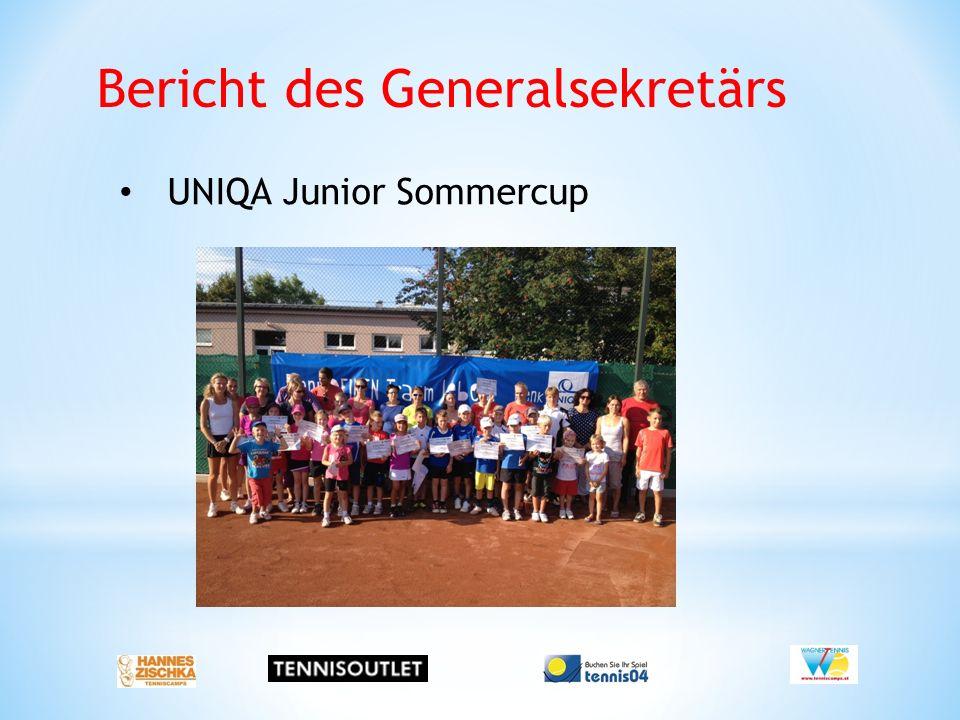 Bericht des Generalsekretärs UNIQA Junior Sommercup