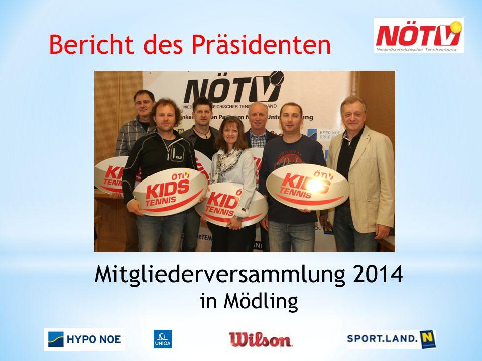 Bericht des Präsidenten Mitgliederversammlung 2014 in Mödling