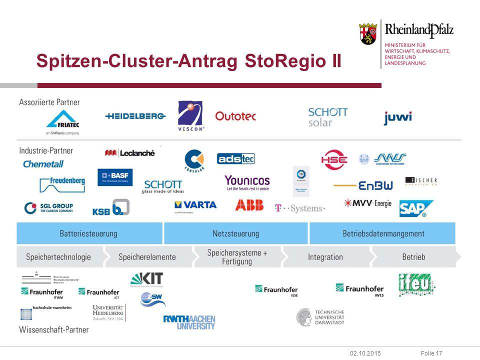 Folie 1702.10.2015 Spitzen-Cluster-Antrag StoRegio II