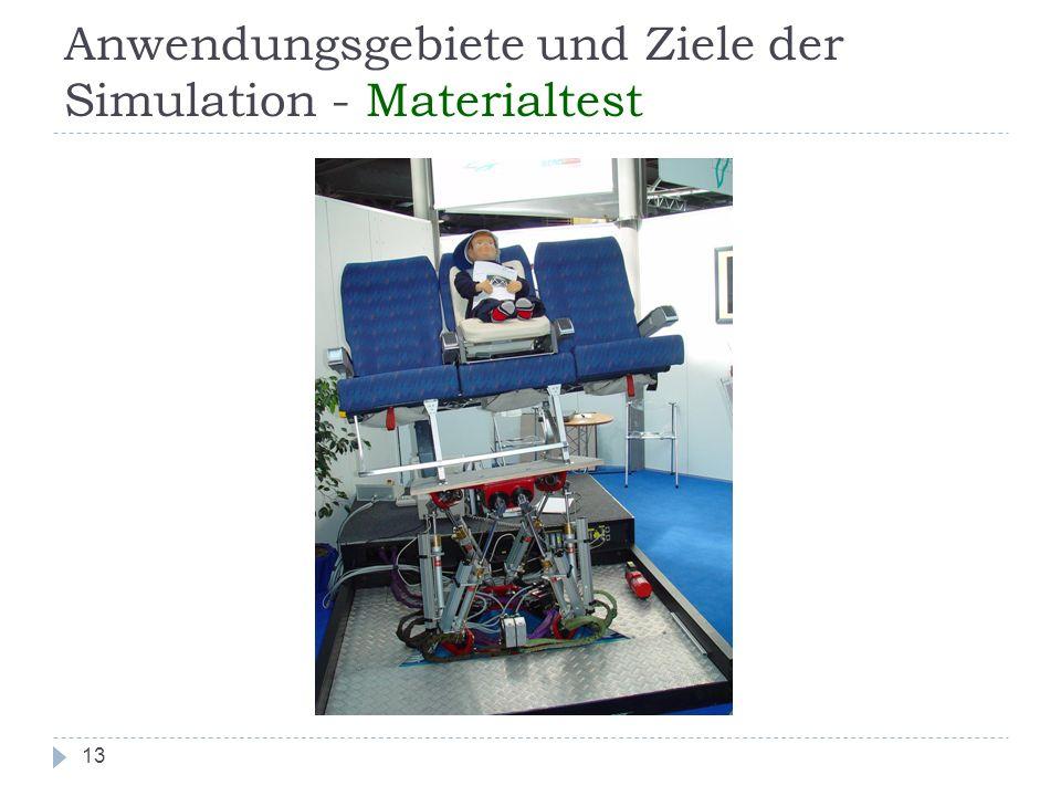Anwendungsgebiete und Ziele der Simulation - Materialtest 13