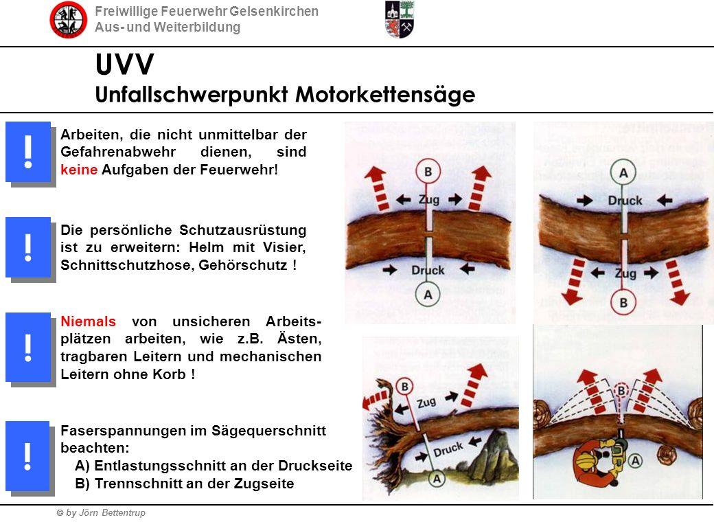 Freiwillige Feuerwehr Gelsenkirchen Aus- und Weiterbildung  by Jörn Bettentrup UVV Unfallschwerpunkt Motorkettensäge Arbeiten, die nicht unmittelbar