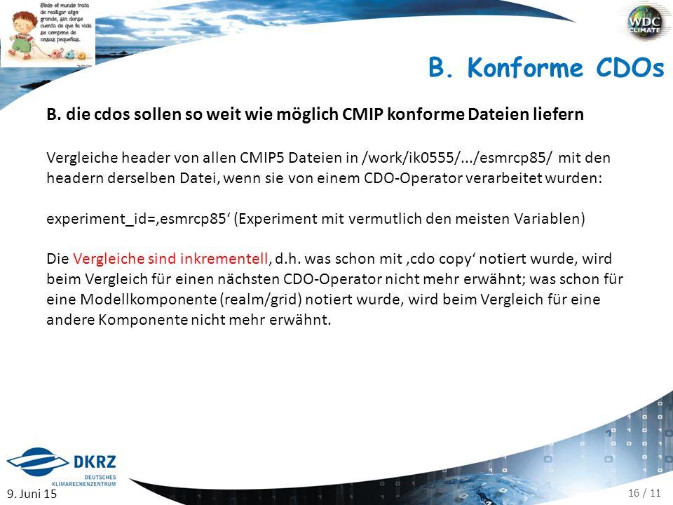 16 / 11 B. Konforme CDOs B.
