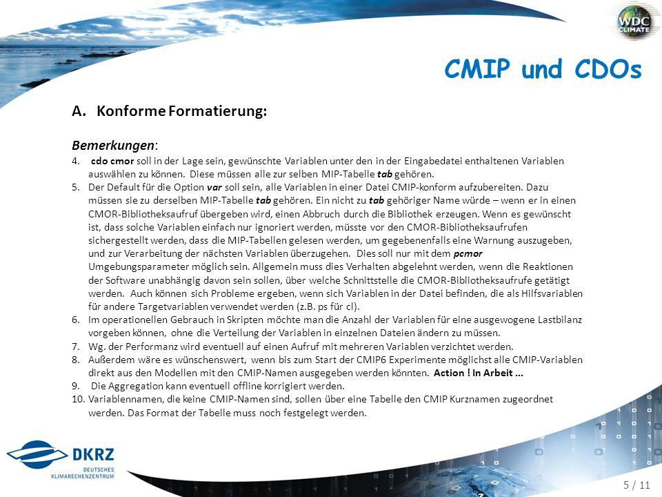 5 / 11 CMIP und CDOs