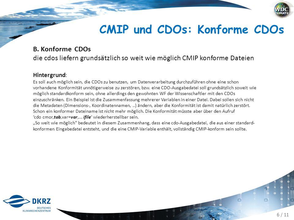 6 / 11 CMIP und CDOs: Konforme CDOs B.