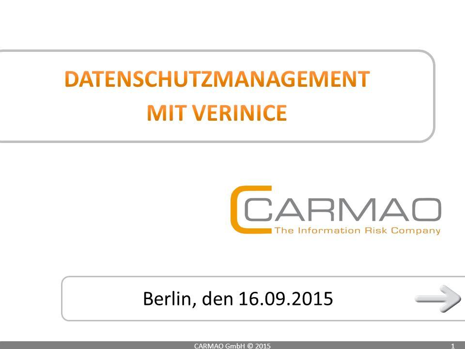Berlin, den 16.09.2015 CARMAO GmbH © 20151