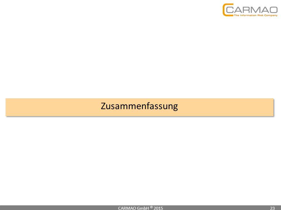 Zusammenfassung CARMAO GmbH © 201523