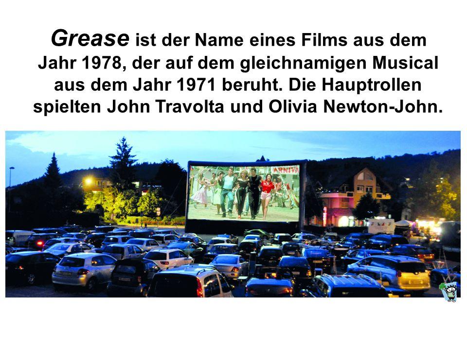 Grease ist der Name eines Films aus dem Jahr 1978, der auf dem gleichnamigen Musical aus dem Jahr 1971 beruht. Die Hauptrollen spielten John Travolta