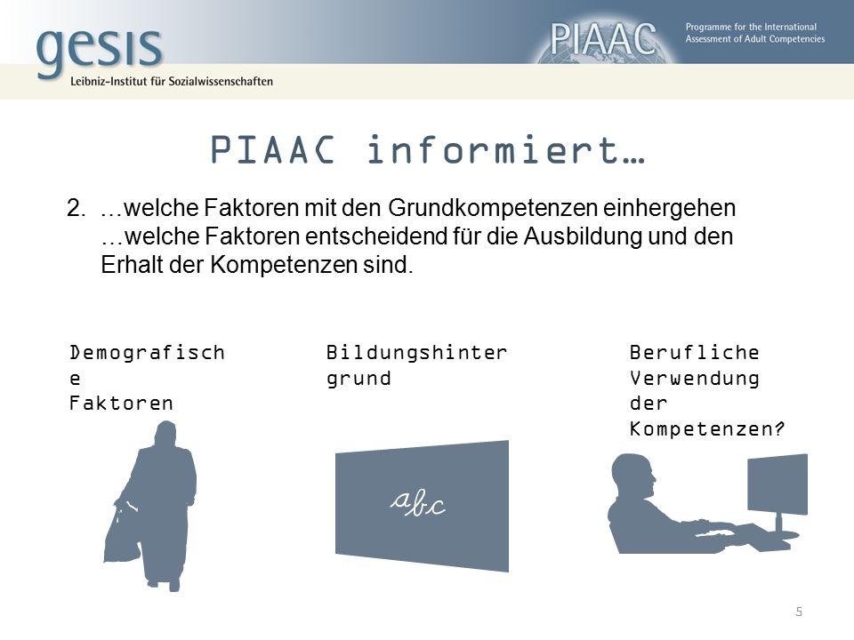 Grundkompetenzen in PIAAC alltagsmathematische Kompetenz technologiebasiertes Problemlösen Grundlegende Lesekompetenz