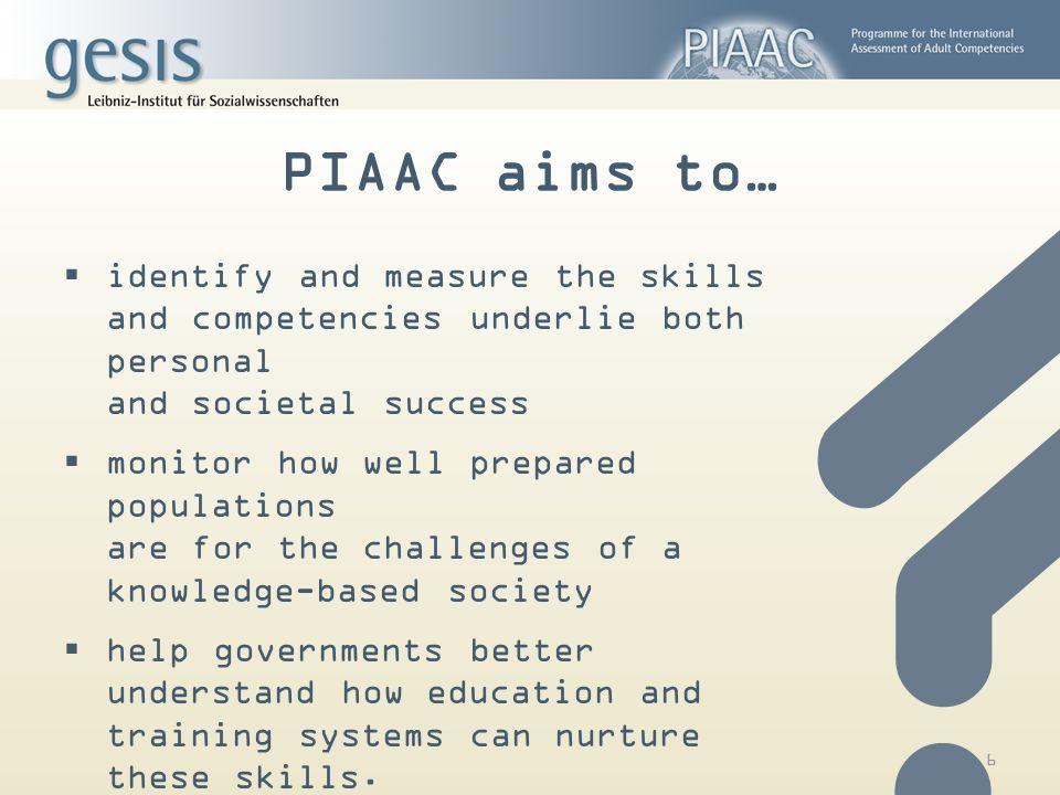 Welche Länder nehmen an PIAAC teil?