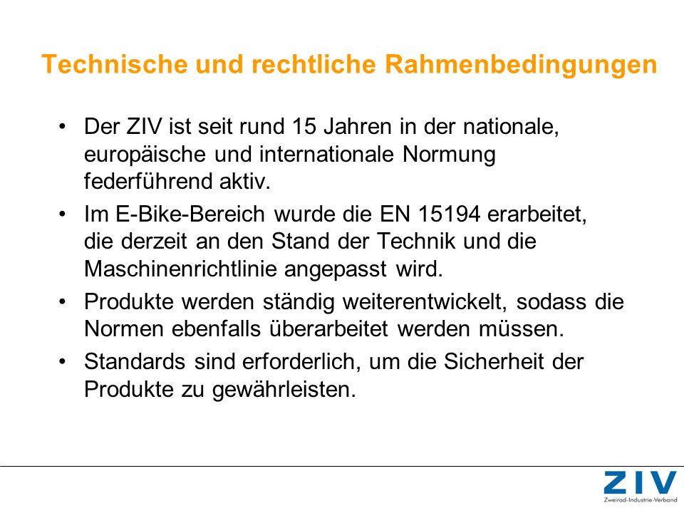 Technische und rechtliche Rahmenbedingungen Der ZIV ist seit rund 15 Jahren in der nationale, europäische und internationale Normung federführend akti