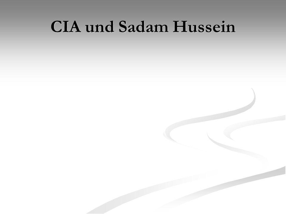 CIA und Sadam Hussein