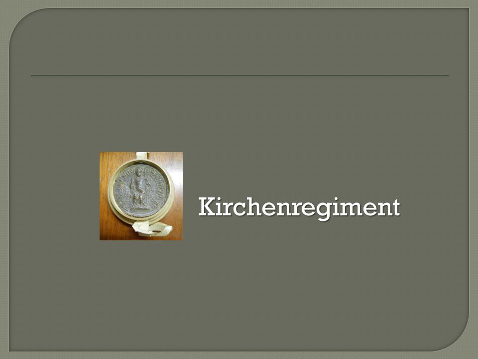 Kirchenregiment