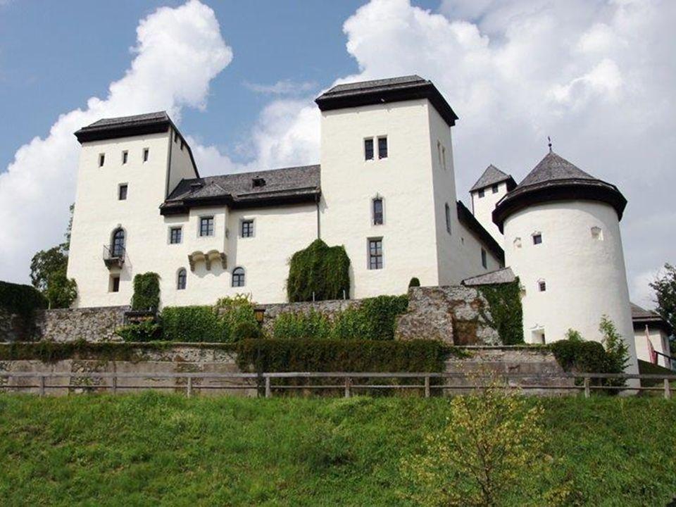 Das Schloss Goldegg steht auf einem Felsvorsprung am Nordufer des Goldegger Sees.