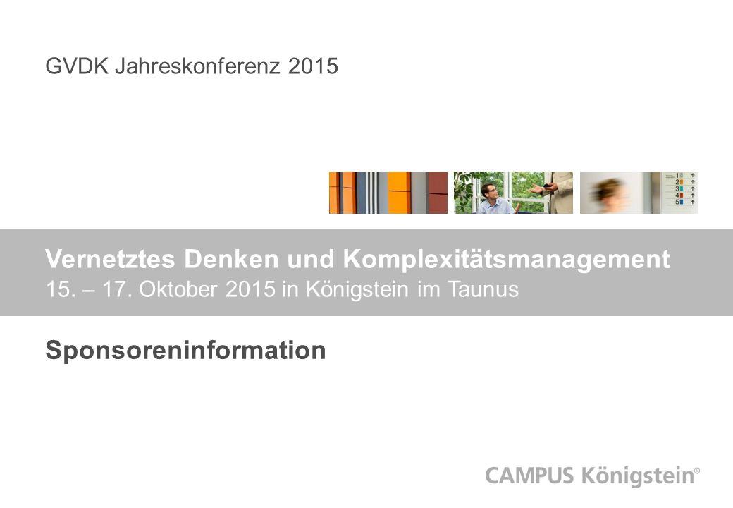 GVDK Jahreskonferenz 2015 Vernetztes Denken und Komplexitätsmanagement 15.