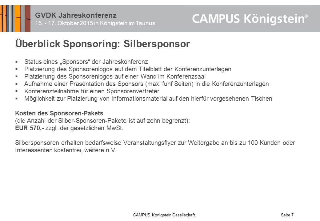 GVDK Jahreskonferenz 15.- 17.