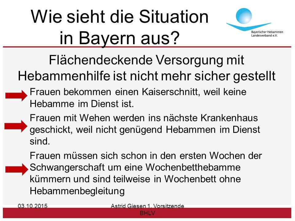 Wie sieht die Situation in Bayern aus.