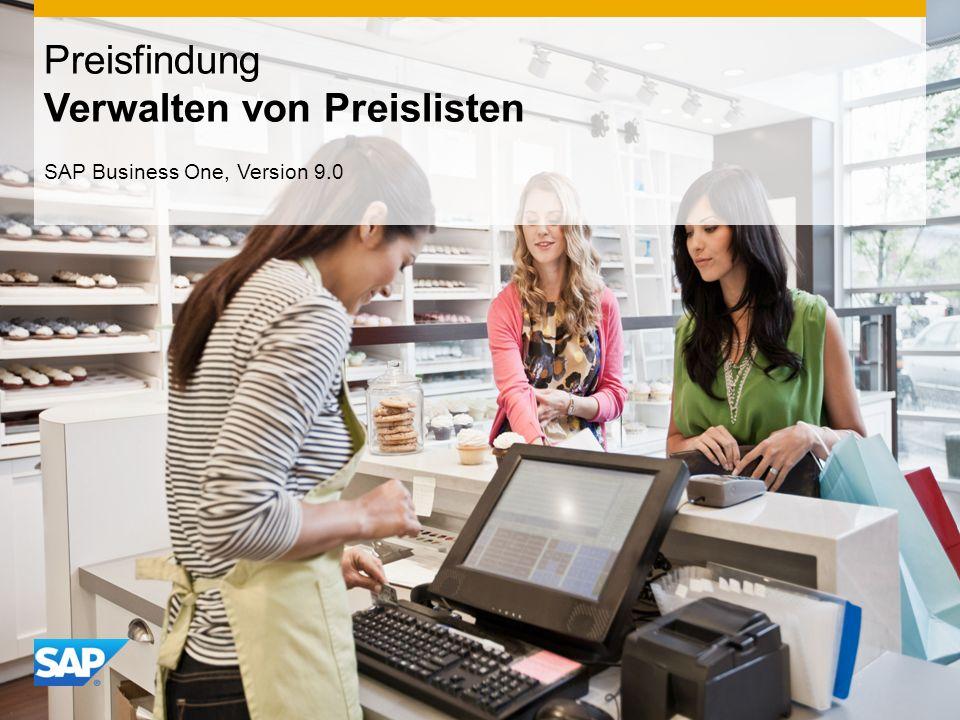 INTERN Preisfindung Verwalten von Preislisten SAP Business One, Version 9.0