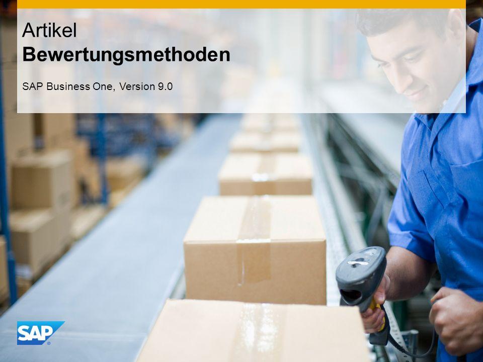 INTERN Artikel Bewertungsmethoden SAP Business One, Version 9.0