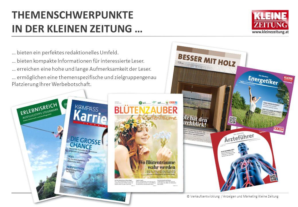© Verkaufsentwicklung / Anzeigen und Marketing Kleine Zeitung RATGEBER