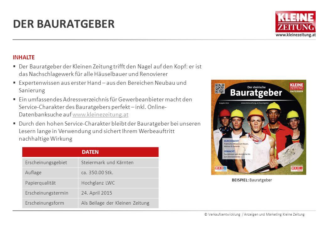 © Verkaufsentwicklung / Anzeigen und Marketing Kleine Zeitung ENERGETIKER  Dient unseren Lesern als Orientierungshilfe und schlägt eine Brücke zwischen Suchenden und Anbietern.