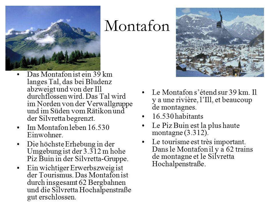 Das Montafon ist ein 39 km langes Tal, das bei Bludenz abzweigt und von der Ill durchflossen wird.