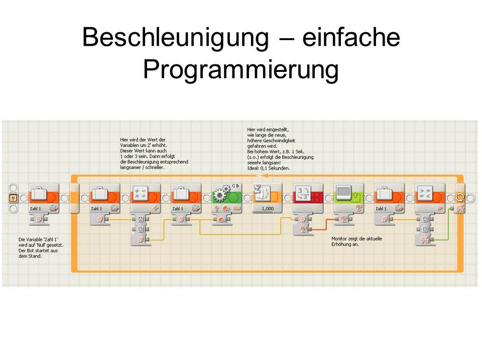Beschleunigung – einfache Programmierung