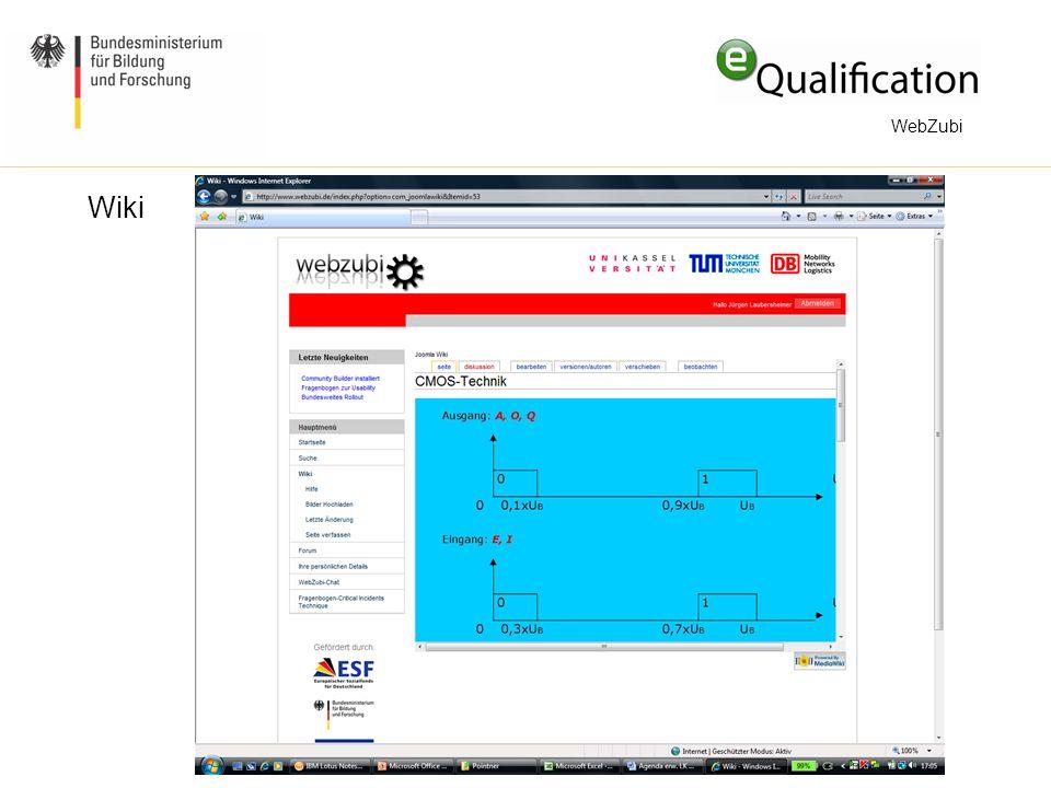 Mehr Interaktivität im Webzubi-Wiki durch Empfehlungen Beim Lesen von Wiki-Seiten: Wo finde ich mehr Informationen zu diesem Thema.
