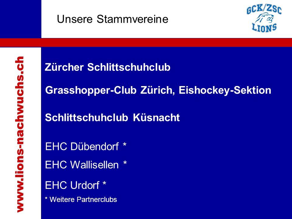 Traktanden Unsere Stammvereine EHC Wallisellen * EHC Dübendorf * Grasshopper-Club Zürich, Eishockey-Sektion Zürcher Schlittschuhclub Schlittschuhclub