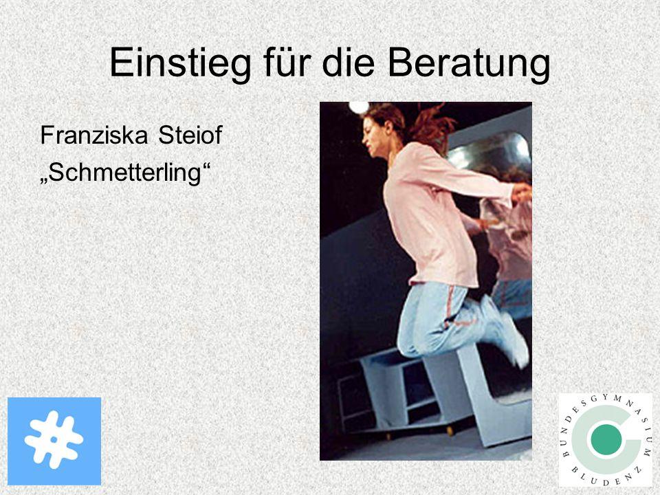 """Einstieg für die Beratung Franziska Steiof """"Schmetterling"""