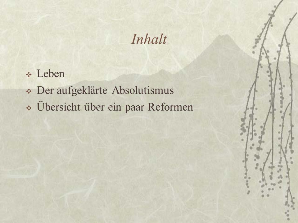 Herkunft  1. Sohn Maria Theresias  1741 in Wien geboren  Verstarb mit 49 Jahren