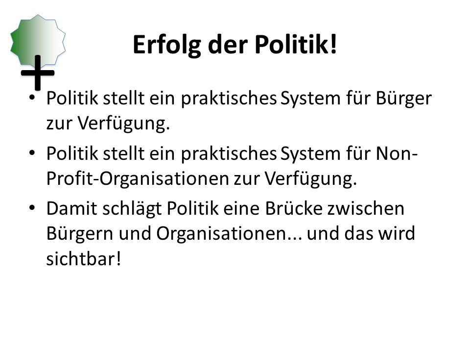 Erfolg der Politik.Politik stellt ein praktisches System für Bürger zur Verfügung.