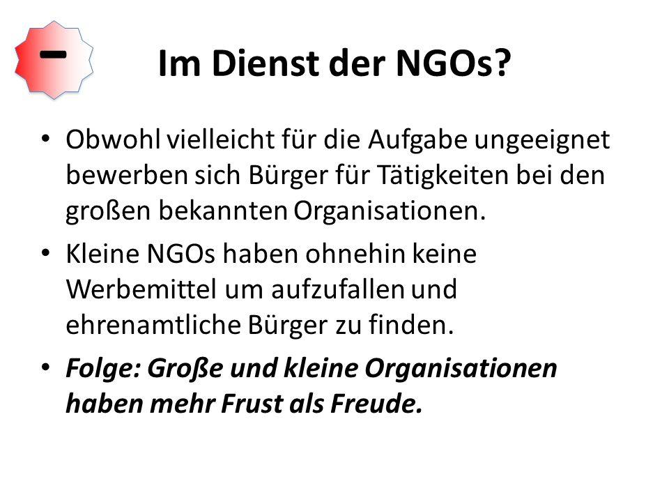 Im Dienst der NGOs.