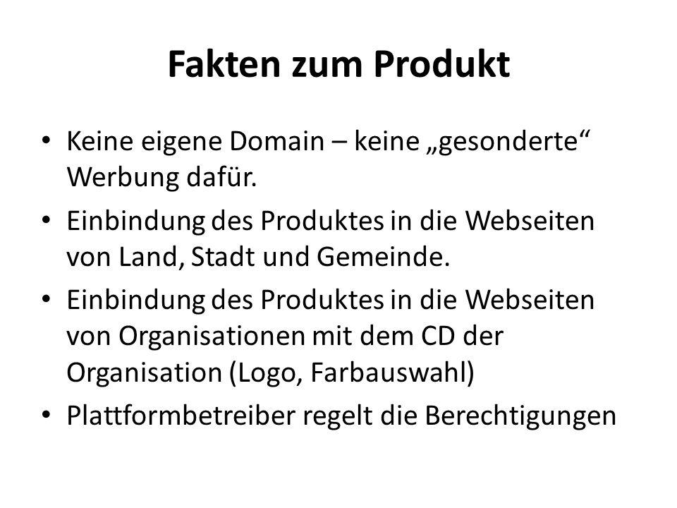 """Fakten zum Produkt Keine eigene Domain – keine """"gesonderte Werbung dafür."""