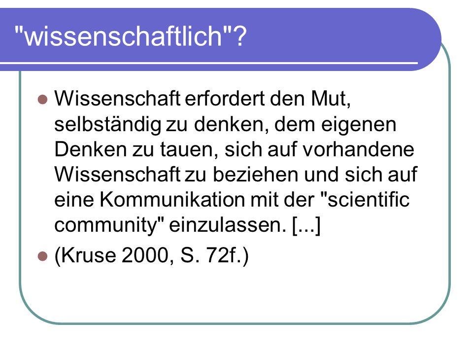 wissenschaftlich .