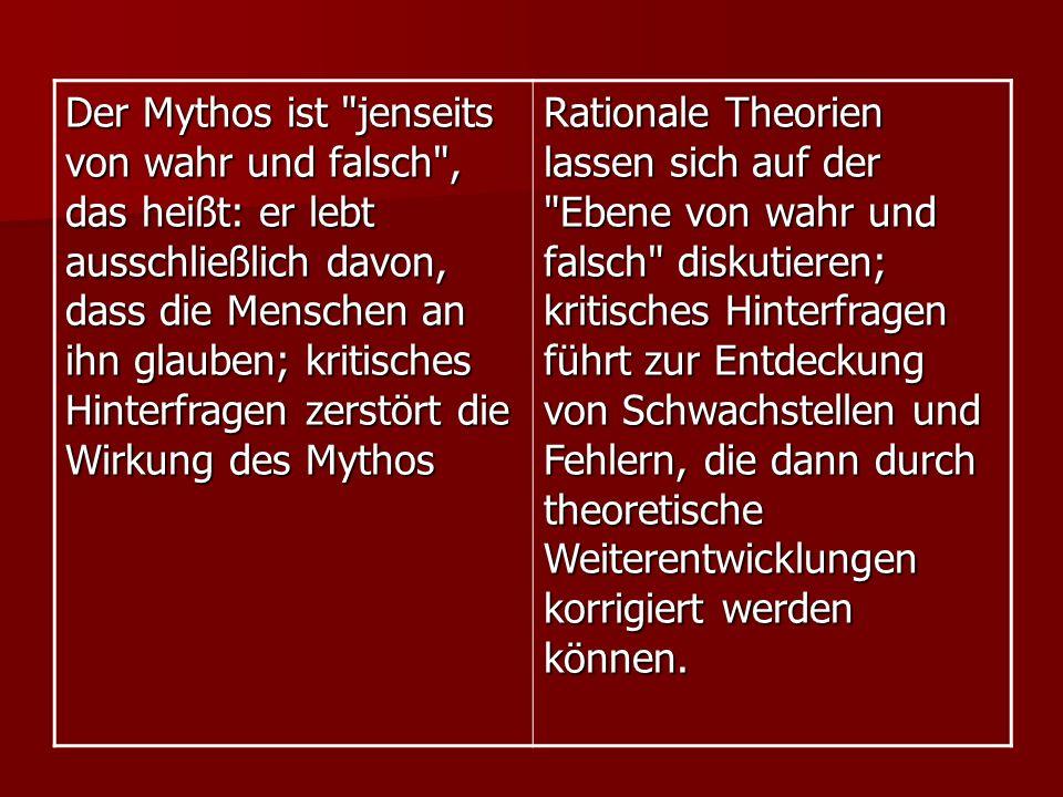 Der Mythos ist